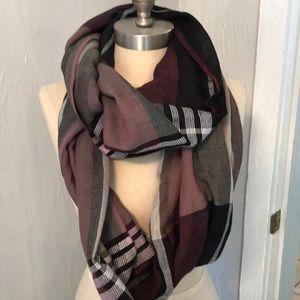Loft multi color infinity scarf